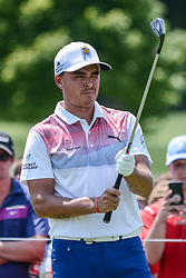 August 10, 2018 - Town And Country, Missouri, U.S - RICKIE FOWLER from Murrieta California, USA lines up his tee shot at hole number three during round two of the 100th PGA Championship on Friday, August 10, 2018, held at Bellerive Country Club in Town and Country, MO (Photo credit Richard Ulreich / ZUMA Press) (Credit Image: © Richard Ulreich via ZUMA Wire)
