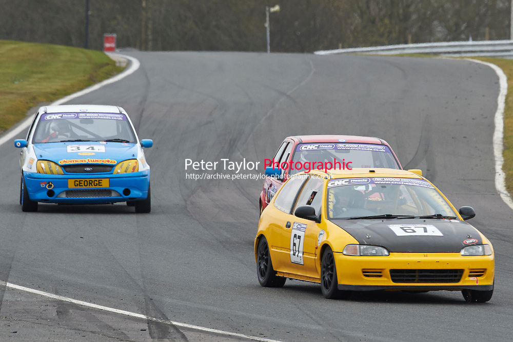 #67 David BIRD Honda Civic 1595 during CNC Heads Sports / Saloon Championship as part of the BARC NW - Championship Raceday  at Oulton Park, Little Budworth, Cheshire, United Kingdom. March 19 2016. World Copyright Peter Taylor/PSP. Copy of publication required for printed pictures.  Every used picture is fee-liable. http://archive.petertaylor-photographic.co.uk