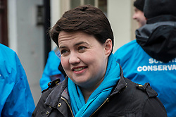 Pictured: <br /> <br /> Scottish Conservative leader Ruth Davidson was on the campaign trail in her own constituency of Edinburgh Central today.<br /> <br /> Ger Harley | EEm 3 April 2016