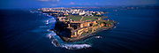 PUERTO RICO, SAN JUAN El Morro fortress with city skyline beyond