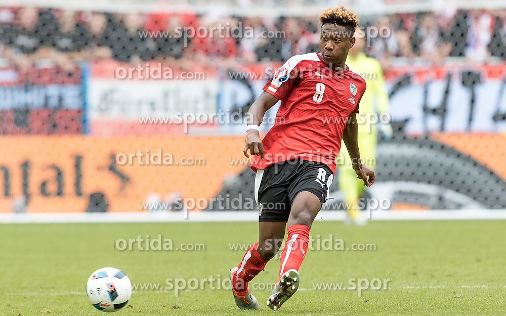 14.06.2016, Stade de Bordeaux, Bordeaux, FRA, UEFA Euro, Frankreich, Oesterreich vs Ungarn, Gruppe F, im Bild David Alaba (AUT) // David Alaba (AUT) during Group F match between Austria and Hungary of the UEFA EURO 2016 France at the Stade de Bordeaux in Bordeaux, France on 2016/06/14. EXPA Pictures © 2016, PhotoCredit: EXPA/ JFK