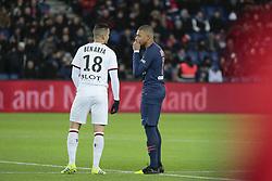 January 27, 2019 - Paris, Ile de France, France - Hatem BEN ARFA (Stade Rennais Football Club) et Kylian Mbappe (PSG) en conversation avant le coup d envoi (Credit Image: © Panoramic via ZUMA Press)