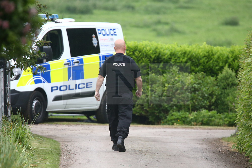 © Licensed to London News Pictures. 30/05/2018. Aldborough, UK. Emergency services attend the scene of a helicopter crash near the village of Aldborough. Photo credit: Andrew McCaren/LNP
