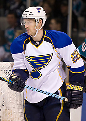 January 6, 2010; San Jose, CA, USA; St. Louis Blues right wing Brad Boyes (22) during the third period against the San Jose Sharks at HP Pavilion.  San Jose defeated St. Louis 2-1 in overtime. Mandatory Credit: Jason O. Watson / US PRESSWIRE