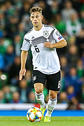 Germany defender Joshua Kimmich (6) during the UEFA European 2020 Qualifier match between Northern Ireland and Germany at National Football Stadium, Windsor Park, Northern Ireland on 9 September 2019.