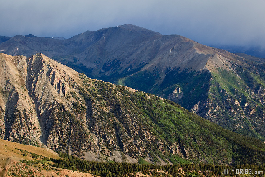Colorado's highest peak Mount Elbert 14,433ft  in the Sawatch Range.