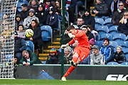 Burnley goalkeeper Nick Pope in action  during the Premier League match between Burnley and Leicester City at Turf Moor, Burnley, England on 19 January 2020.