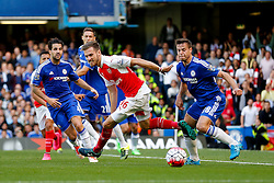 Aaron Ramsey of Arsenal - Mandatory byline: Rogan Thomson/JMP - 07966 386802 - 19/09/2015 - FOOTBALL - Stamford Bridge Stadium - London, England - Chelsea v Arsenal - Barclays Premier League.