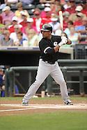 SURPRISE, AZ - MARCH 06:  Micah Johjnson #83 of the Chicago White Sox bats against the Kansas City Royals on March 6, 2014 at The Ballpark in Surprise in Surprise, Arizona. (Photo by Ron Vesely)   Subject: Micah Johnson