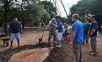 Mission team water well drilling in Isosog, Santa Cruz, Bolivia