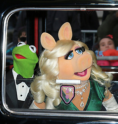 LNP Weekly Highlights 28/03/14  © Licensed to London News Pictures. 24/03/2014, UK. Kermit the Frog; Miss Piggy, Muppets Most Wanted - VIP screening, Curzon Mayfair, London UK, 24 March 2014. Photo credit : Richard Goldschmidt/Piqtured/LNP