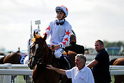 Mai Diva ridden by Ben Robinson and trained by John Quinn in the Visit Valuerater.Co.Uk Nursery Handicap race.  - Ryan Hiscott/JMP - 15/09/2019 - PR - Bath Racecourse - Bath, England - Race Meeting at Bath Racecourse