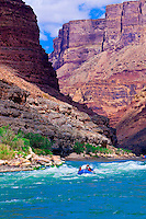 Whitewater rafting, Tiger Wash Rapid, Marble Canyon, Grand Canyon National Park, Arizona USA