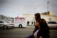 An ice cream truck parks along Nebraska Street, between Vallejo High and the location where a construction worker was beat up, in Vallejo, Ca., on Wednesday, Feb. 10, 2010. Last week Amarjit Kaur, 39, was shot in the chest in her ice cream truck near Springstowne Middle School in an attempted robbery.