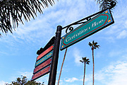 Catalina Ave and Crescent Ave Street Sign in Downtown Avalon