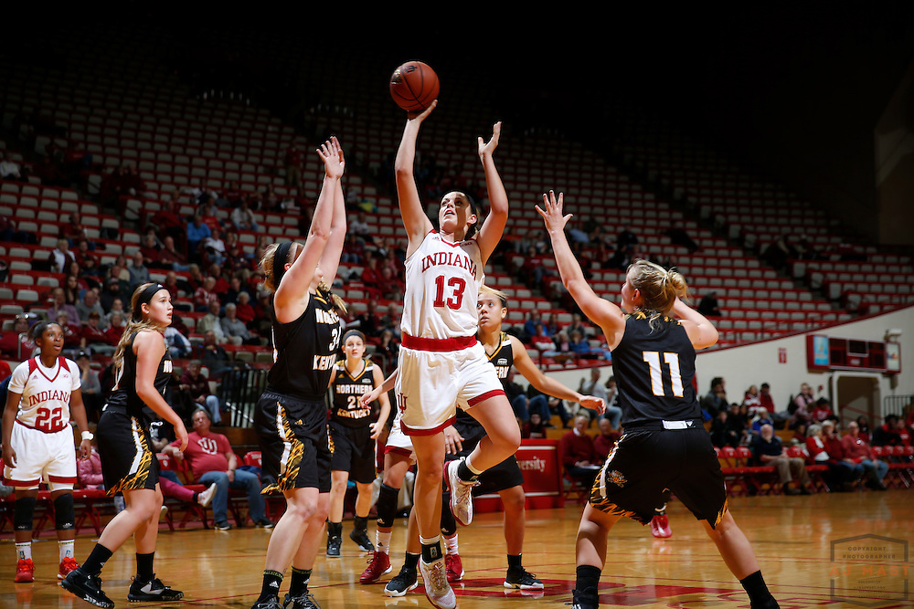 Indiana forward Darby Foresman (13) in action as Indiana played Northern Kentucky in an NCCA college basketball game in Bloomington, Ind., Thursday, Dec. 8, 2016. (AJ Mast)