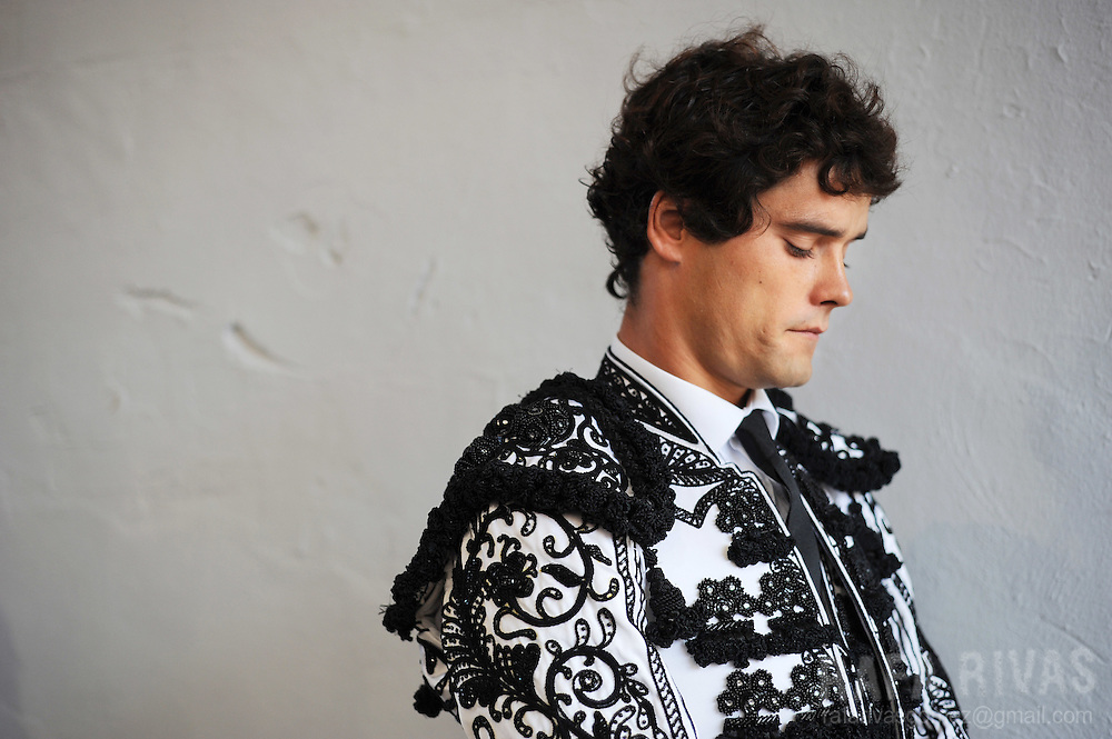 Spanish matador, Miguel Abellan is portraited during the first corrida of the San Fermin festivities, in Pamplona, north of Spain, on July 7, 2008.