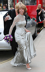 Coronation Street actress Helen Worth arriving for her wedding to Trevor Dawson  at St.James's Church in Piccadilly, London, Saturday 6th   April 2013.  Photo by: Stephen Lock / i-Images