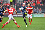 Ezgjan Alioski (10) of Leeds United is challenged by Tomas Kalas (22) of Bristol City during the EFL Sky Bet Championship match between Bristol City and Leeds United at Ashton Gate, Bristol, England on 9 March 2019.