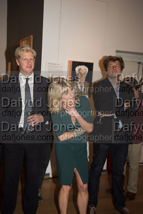 JO JOHNSON; RACHEL JOHNSON; LEO JOHNSON, Exhibition opening of paintings by Charlotte Johnson Wahl. Mall Galleries. London, 7 September 2015.