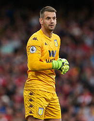Thomas Heaton of Aston Villa - Mandatory by-line: Arron Gent/JMP - 22/09/2019 - FOOTBALL - Emirates Stadium - London, England - Arsenal v Aston Villa - Premier League