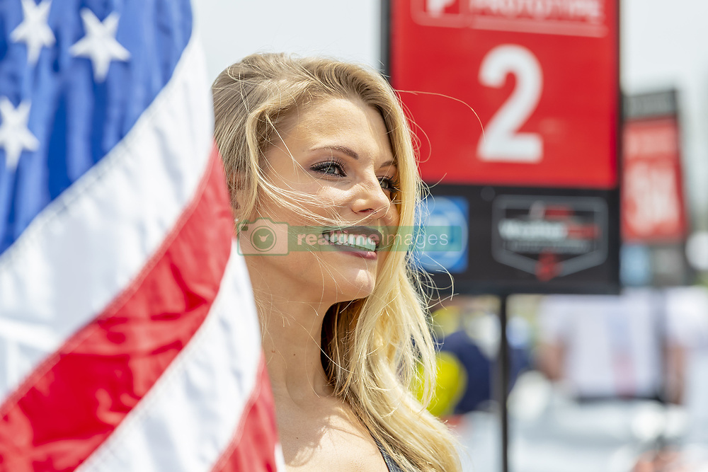 May 6, 2018 - Lexington, Ohio, United States of America - The Tequila Patron flag girl waits for the start of the Acura Sports Car Challenge at Mid Ohio Sports Car Course in Lexington, Ohio. (Credit Image: © Walter G Arce Sr Asp Inc/ASP via ZUMA Wire)