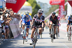 Coryn Rivera (USA) of Team Sunweb finishes in second place on Stage 6 of the Giro Rosa - a 116.1 km road race, starting and finishing in Roseto Degli Abruzzi on July 5, 2017, in Teramo, Italy. (Photo by Balint Hamvas/Velofocus.com)