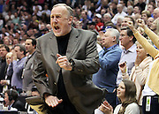 Minnesota Timberwolves head coach Rick Adelman reacts after a steal by the Utah Jazz in overtime during a NBA basketball game, Thursday, March. 15, 2012, in Salt Lake City. The Jazz defeated the Timberwolves 111-105. (AP Photo/Colin E Braley).