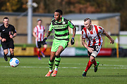 Forest Green Rovers Keanu Marsh-Brown(7) on the ball during the Vanarama National League match between Forest Green Rovers and Lincoln City at the New Lawn, Forest Green, United Kingdom on 19 November 2016. Photo by Shane Healey.
