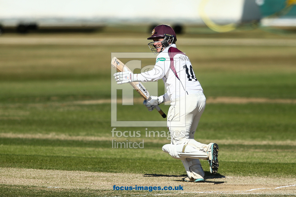 Rob Newton of Northamptonshire CCC during the Specsavers County C'ship Div Two match at the County Ground, Northampton<br /> Picture by Andy Kearns/Focus Images Ltd 0781 864 4264<br /> 15/08/2016