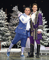 Andy Collins; Gary Lucy First Family Entertainment Pantomime photocall, Piccadilly Theatre, London UK, 26 November 2010: piQtured Sales: Ian@Piqtured.com +44(0)791 626 2580 (picture by Richard Goldschmidt)