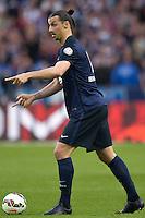Zlatan Ibrahimovic - 30.05.2015 - Auxerre / Paris Saint Germain - Finale Coupe de France<br />Photo : Andre Ferreira / Icon Sport