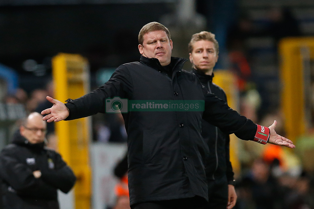 April 6, 2018 - Charleroi, BELGIUM - Anderlecht's head coach Hein Vanhaezebrouck pictured during the Jupiler Pro League match between Sporting Charleroi and RSC Anderlecht, in Charleroi, Friday 06 April 2018, on day two of the Play-Off 1 of the Belgian soccer championship. BELGA PHOTO BRUNO FAHY (Credit Image: © Bruno Fahy/Belga via ZUMA Press)
