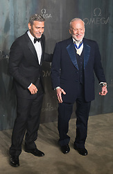 Tate Modern, London, April 26th 2017. George Clooney and Buzz Aldrin arrive at the Tate Modern in London for the 'Lost In Space' 60th anniversary event for the Omega Speedmaster watch.