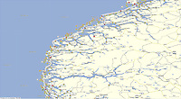 GPS Track: Northbound Hurtigruten M/V Nordkapp Day 2 (292 miles)