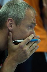 01-07-2012 VOLLEYBAL: EUROPEAN LEAGUE TURKIJE - NEDERLAND: ANKARA<br /> Nederland wint de European League 2012 door Turkije met 3-2 te verslaan / <br /> Henk Jan Held (Co-Trainer NED)<br /> ©2012-FotoHoogendoorn.nl/Conny Kurth