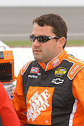 Jun 2005; Brooklyn, MI; Tony Stewart prior to the start of the Nextel Cup Series Batman Begins 400 at Michigan International Speedway.