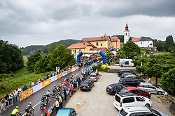 Peloton in town Catez during 5th Stage of 26th Tour of Slovenia 2019 cycling race between Trebnje and Novo mesto (167,5 km), on June 23, 2019 in Slovenia. Photo by Matic Klansek Velej / Sportida