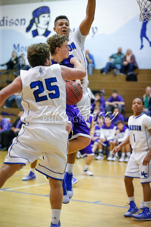 January 21, 2015.  <br /> MCHS Varsity Boys Basketball vs Strasburg.  Madison wins 60-41.  Isiah Smith and Dylan Breeden with 18 point each to lead the Mountaineers.