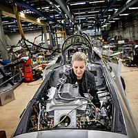 Hovedværkstedet i Ålborg, her laver de efteryn og service på F16 jagerflyene.