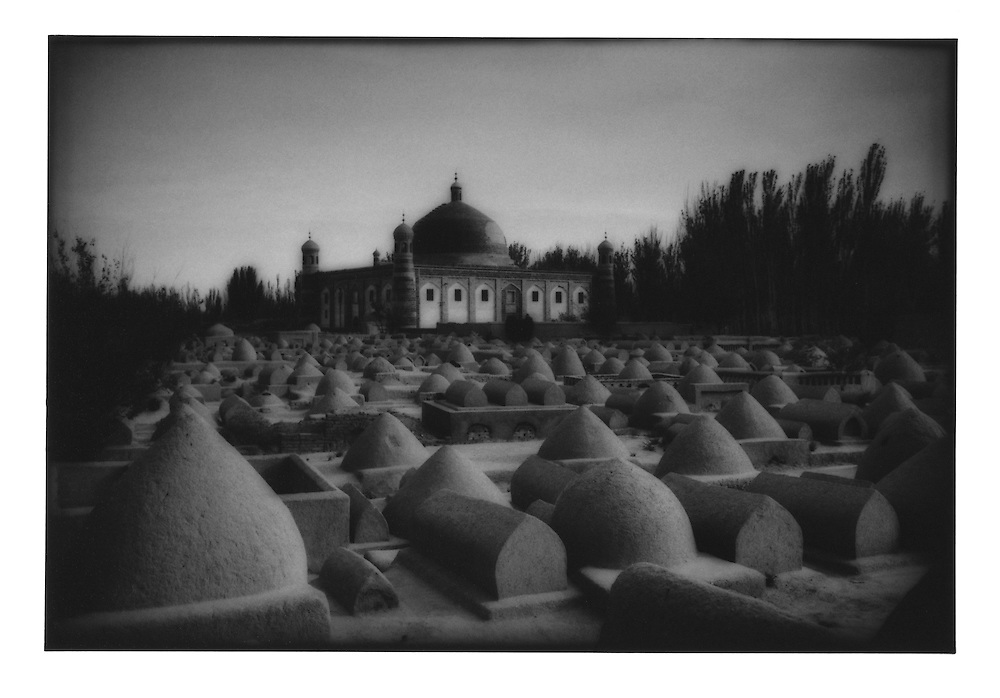 Traditional Islamic cemetery behind Abakh Hoja Tomb, Kashgar Oasis, Chinese Turkestan.