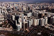United Arab Emirates: Abu Dhabi Province.Aerial view of central Abu Dhabi