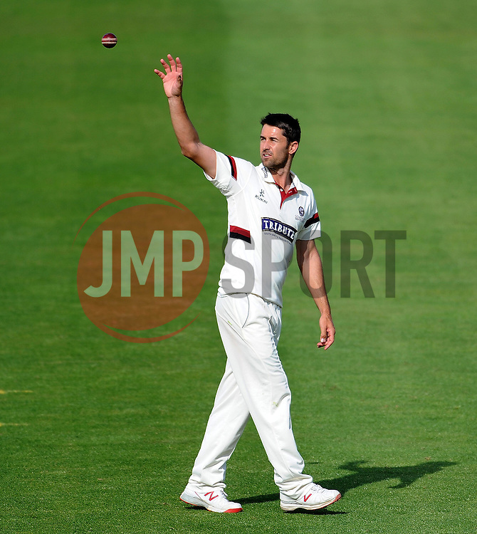 Somerset's Tim Groenewald. - Photo mandatory by-line: Harry Trump/JMP - Mobile: 07966 386802 - 14/06/15 - SPORT - CRICKET - LVCC County Championship - Division One - Day One - Somerset v Nottinghamshire - The County Ground, Taunton, England.