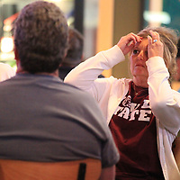 Thomas Wells | Buy at PHOTOS.DJOURNAL.COM<br /> Tracie Conwill finds it hard to watch as the Lady Bulldogs fall behind by 10 points as the first half comes to an end as they play South Carolina for the NCAA Championship.