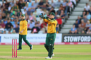 Tom Moores of Nottinghamshire Outlaws during the Vitality T20 Blast North Group match between Nottinghamshire County Cricket Club and Worcestershire County Cricket Club at Trent Bridge, West Bridgford, United Kingdon on 18 July 2019.