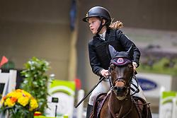 De Dycker Lien, BEL, Freemanca van het Avenhof<br /> Nationaal Indoor Kampioenschap Pony's LRV <br /> Oud Heverlee 2019<br /> © Hippo Foto - Dirk Caremans<br /> 09/03/2019