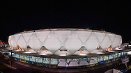 A general exterior view of the Arena da Amazonia, Manaus, Brazil. Note to editors this is an in-camera stitched panorama of 10 images.<br /> Picture by Andrew Tobin/Focus Images Ltd +44 7710 761829<br /> 13/06/2014