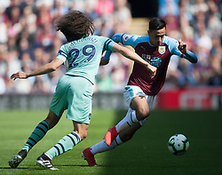 Matteo Guendouzi of Arsenal (L) and Dwight McNeil of Burnley in action - Mandatory by-line: Jack Phillips/JMP - 12/05/2019 - FOOTBALL - Turf Moor - Burnley, England - Burnley v Arsenal - English Premier League