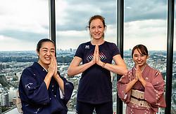 17-10-2018 JPN: World Championship Volleyball Women day 18, Yokohama<br /> Travel day from Nagoya to Yokohama for the semi finals / Lonneke Sloetjes #10 of Netherlands and the skyline of Yokohama and Tokyo