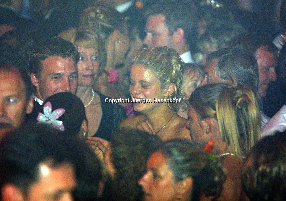 Sport,Tennis,Hopman Cup in Perth,Australien,Mixed<br /> Doubles WM, Kim Clijsters (BEL) beim Silvester Ball , 31.12.2001.